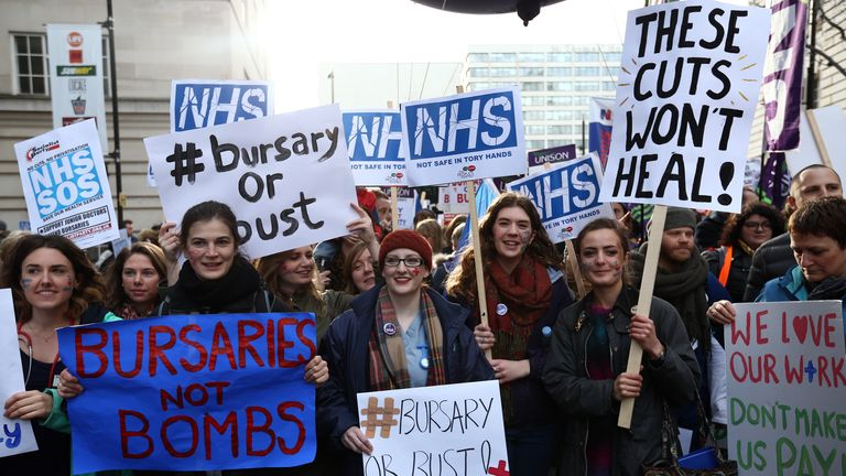 Junior doctors last Saturday in London joined forces with student nurses who are determined to defend bursaries and defeat tuition fees