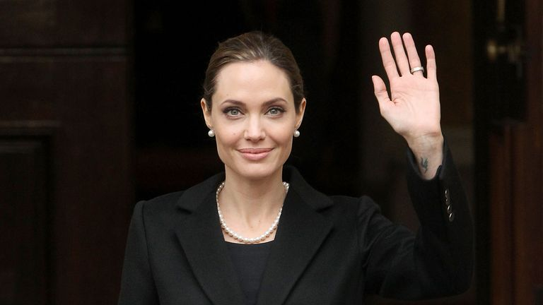 LONDON, ENGLAND - APRIL 11:  Angelina Jolie attends the G8 summit at Lancaster House on April 11, 2013 in London, England.  (Photo by Danny Martindale/WireImage)