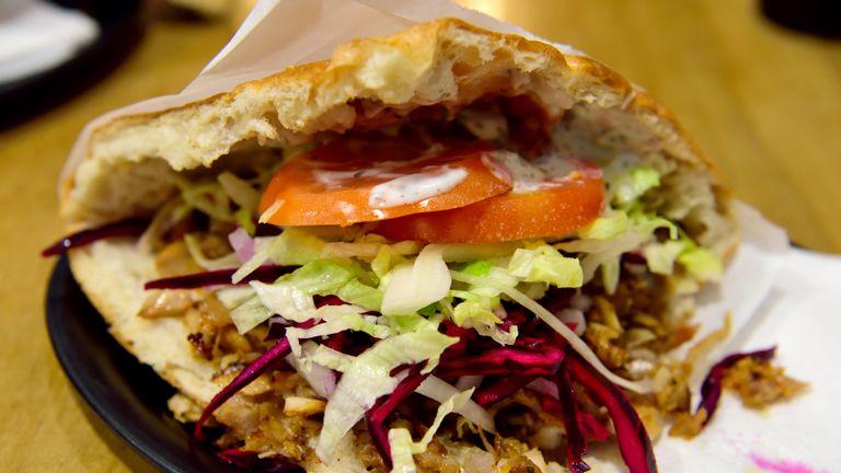 Berliner doner kebab.