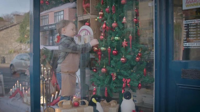A small business Christmas add explodes in popularity