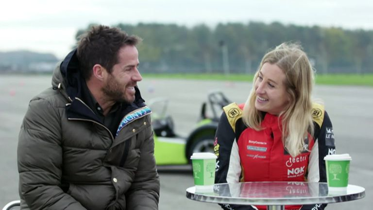 Jamie Redknapp joins Charlie Martin for a driving challenge at Silverstone, as well as a chat about her journey as a trans woman in motorsport