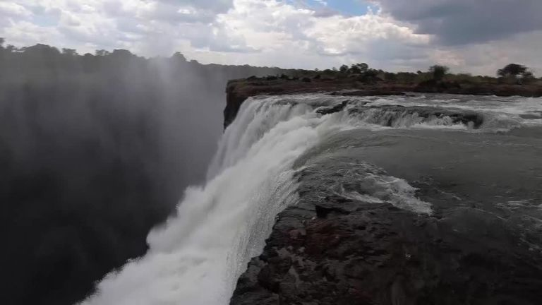 One Of The World S Natural Wonders Is At Its Lowest Level In 25 Years As The Country S President Warns Of Losing The Waterfall
