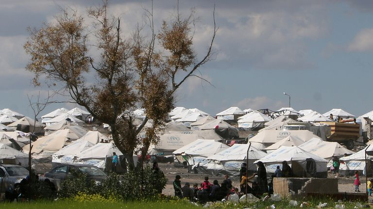 Lisa Smith had been living with her child in the Ain Issa camp in northeast Syria