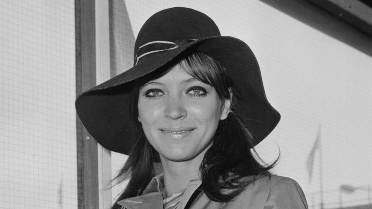 Danish-French actress, author and singer Anna Karina at Heathrow Airport, London, UK, 13th September 1968. (Photo by Evening Standard/Hulton Archive/Getty Images)