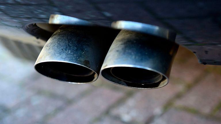 An Audi diesel car exhaust