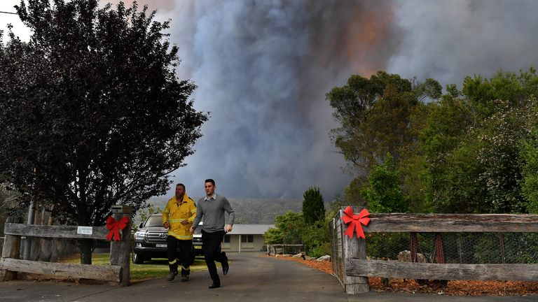 Fire crews have been carrying out property protection measures in New South Wales