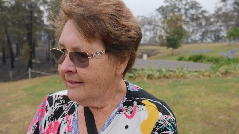 Ann Jones decided to stay put when the fires spread to the Blue Mountains, in New South Wales
