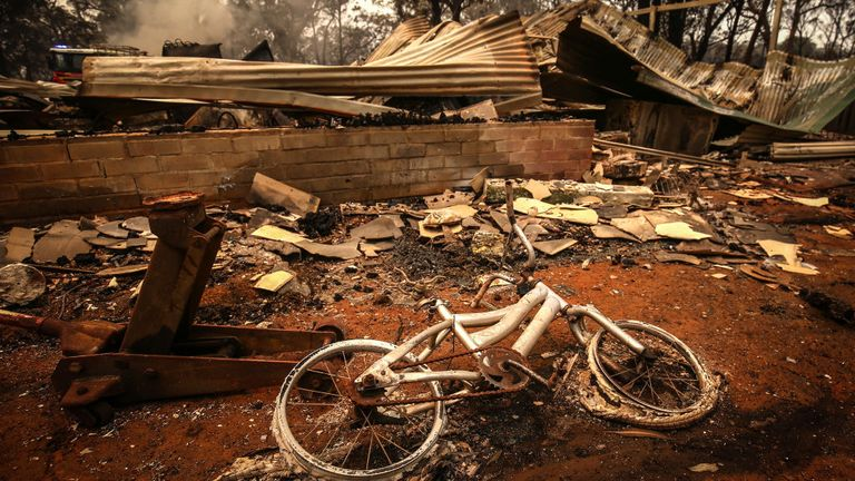 Dozens of homes have been destroyed in New South Wales