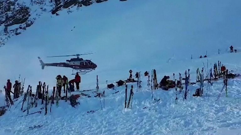 A major rescue operation was launched to find the ski tourer in Austria. Pic: Bergrettung