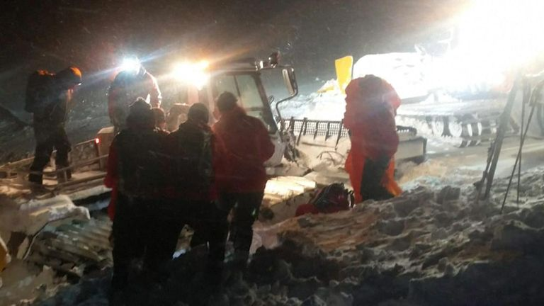 Rescue workers searched for the ski tourer at 2,000 metres above sea level. Pic: Bergrettung