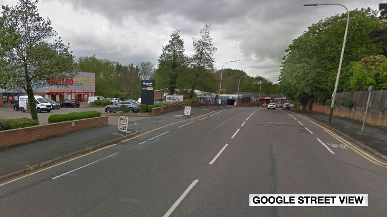 The collision happened on Aylestone Road, Leicester. Pic: Google Maps
