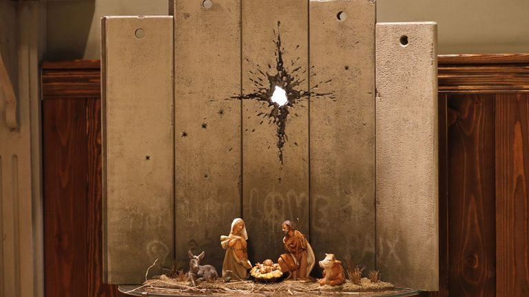 "A new Christmas-themed artwork dubbed the ""Scar of Bethlehem"""