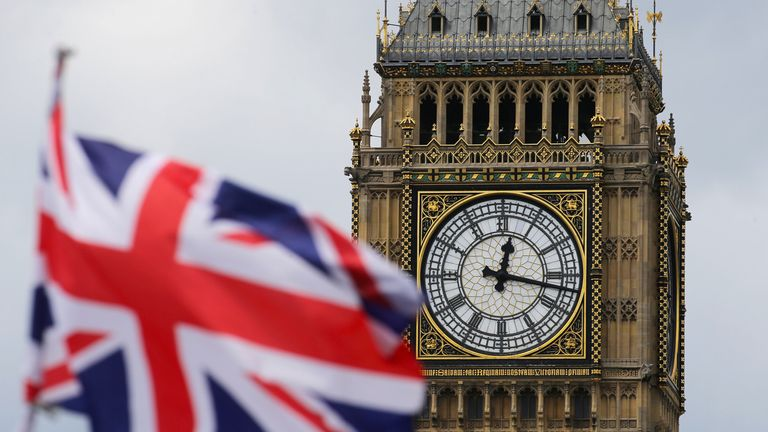 A British national flag flies in front of the Big Ben clock tower in London, Britain, 24 June 2016. In a referendum on 23 June, Britons have voted by a narrow margin to leave the European Union (EU). Photo: MICHAEL KAPPELER/dpa Read less Picture by: Michael Kappeler/DPA/PA Images Date taken: 24-Jun-2016 Image size: 5037 x 3397 Image ref #: 26701423 Instructions: UK, Australian and New Zealand rights only