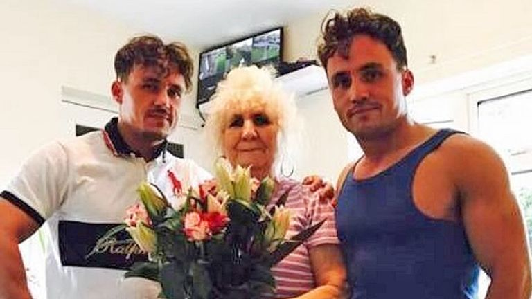Billy Smith, and Joe Smith alongside their grandmother