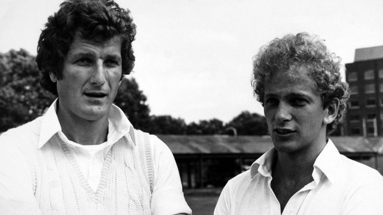 England captain Bob Willis and David Gower at Lord's in 1982