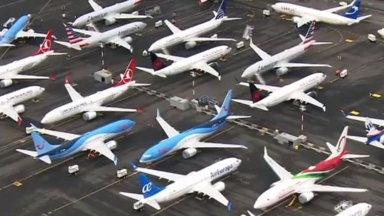 Boeing 737 MAX planes are being stored at several locations in the US