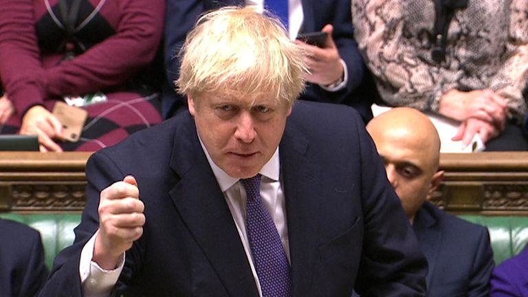 Boris Johnson told MPs: 'Now is the time to act together as one reinvogorated nation'