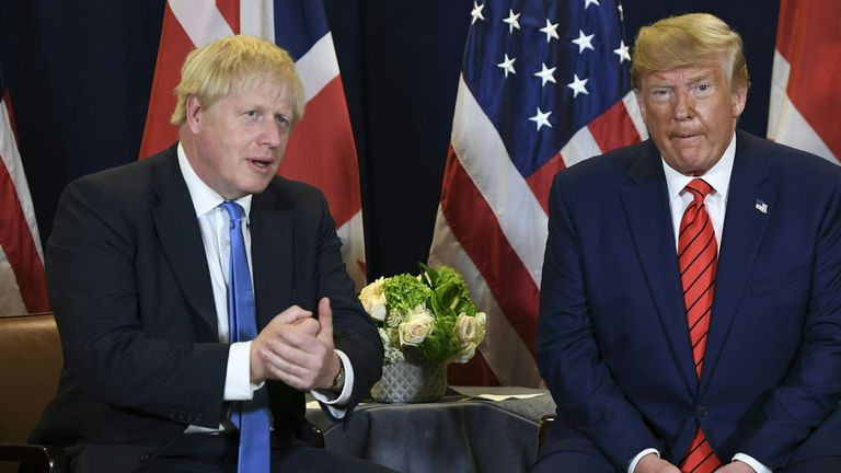 Boris Johnson and Donald Trump