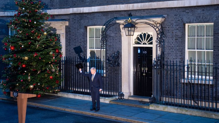 Prime Minister Boris Johnson after making a statement in Downing Street, London as the Conservative Party was returned to power in the General Election with an increased majority