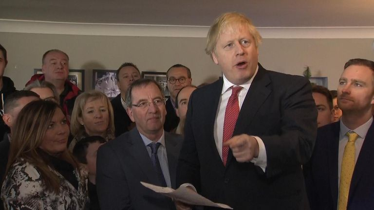 "On a visit to the northeast, Boris Johnson says local activists ""have changed the political map and changed the future of the country."""