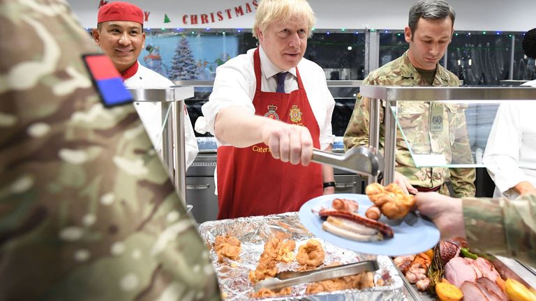 Mr Johnson thanked the servicemen and women for their work
