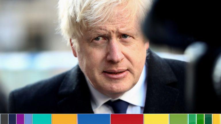 Boris Johnson at the scene of the London Bridge attack