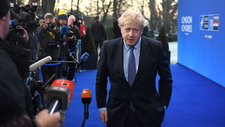 Boris Johnson will appeal for unity in his speech to NATO leaders