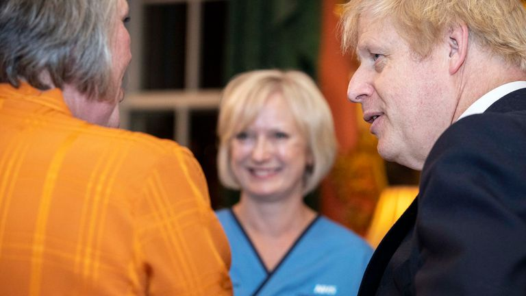 Boris Johnson meets nurses