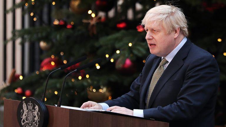Prime Minister Boris Johnson outside 10 Downing Street