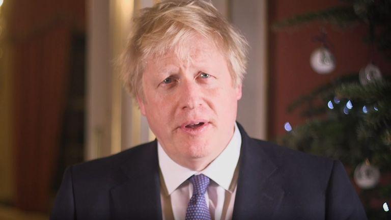 Boris Johnson delivers his Christmas message