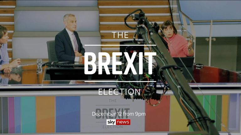 The Brexit Election December 12 from 9pm on Sky News