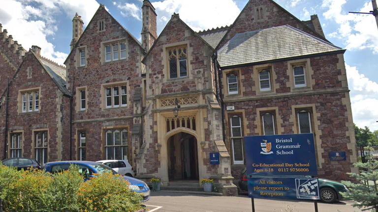 Screenshot from Google Maps of Bristol Grammar School. Pic: Google Maps