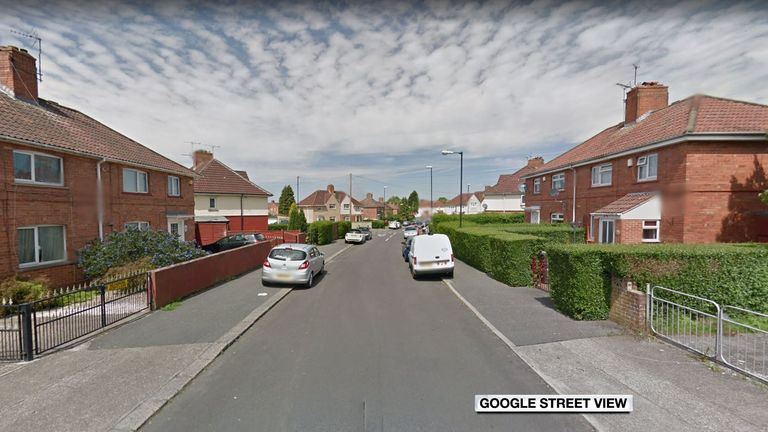 Weapons were found at a property on Shetland Road, Westbury-on-Trym