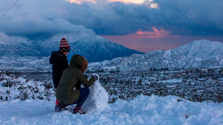 California has been under a blanket of snow