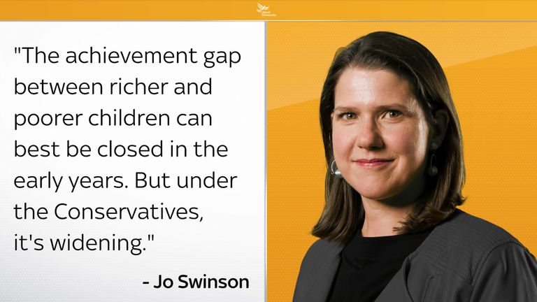 Jo Swinson claims the achievement gap is widening