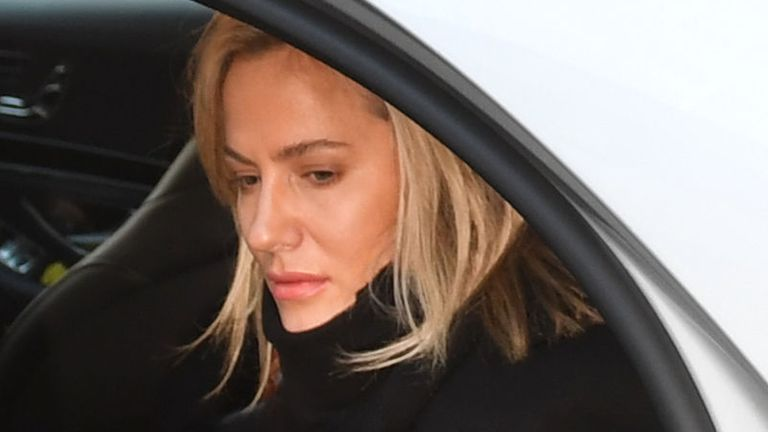TV presenter Caroline Flack arrives at Highbury Corner Magistrates' Court charged with assault