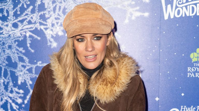 Caroline Flack attends the launch of Hyde Park Winter Wonderland 2019 on 20 November