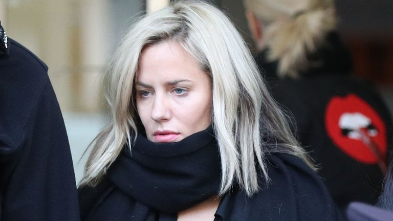 Caroline Flack leaves Highbury Corner Magistrates' Court