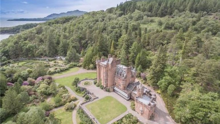 Glenborrodale Castle in the Highland area of Scotland. Pic. Bell Ingram