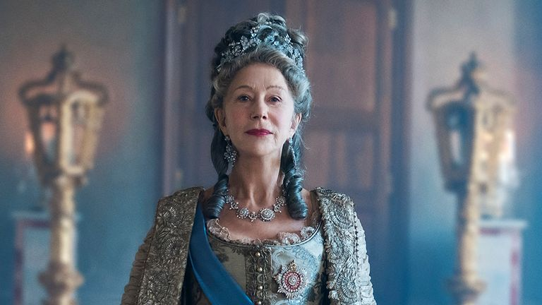 Helen Mirren stars as the Empress of Russia in mini-series Catherine The Great