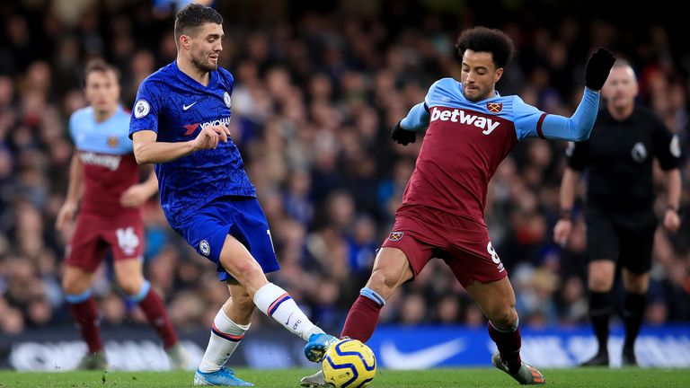 West Ham fans have been accused of chanting homophobic slurs at Chelsea fans during Saturday's Premier League game