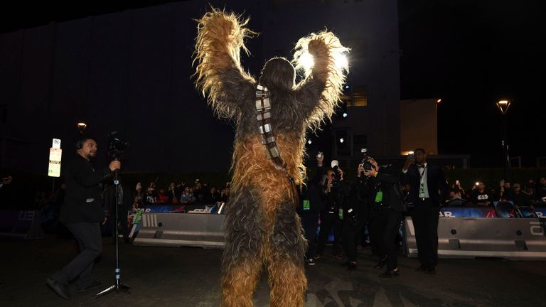Chewbacca at the Star Wars premiere