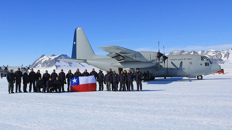 The C-130 had 38 people on board. Chilean air force file photo