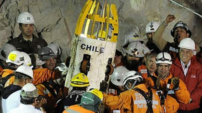 The 33 men were rescued from a Chilean mine
