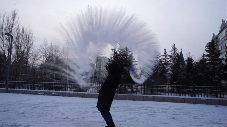 Temperatures hit -50 degrees in China
