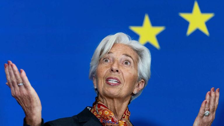 President of the European Central Bank (ECB) Christine Lagarde