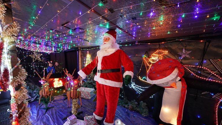It has taken Stan Yanetta three weeks to decorate his home in South Tyneside