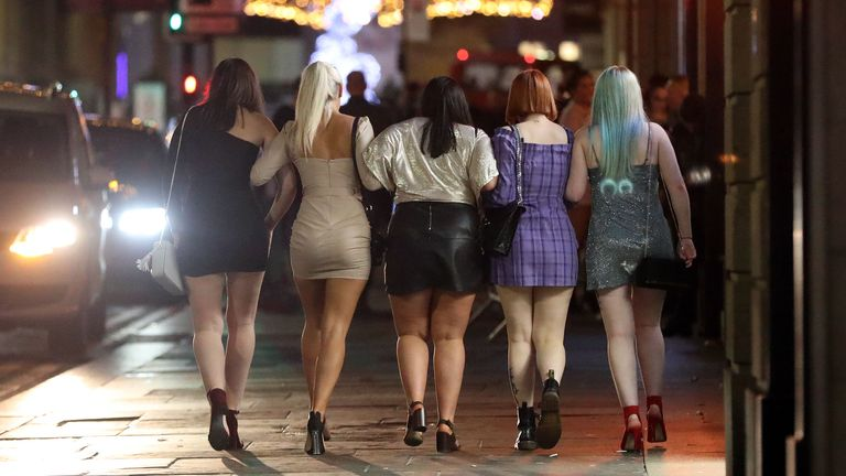 Revellers in Newcastle on the last Friday before Christmas. PA Photo. Picture date: Friday December 20, 2019. Photo credit should read: Scott Heppell/PA Wire