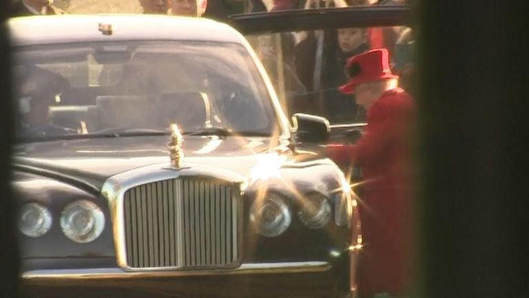 The Queen left in her car with Sophie, Countess of Wessex