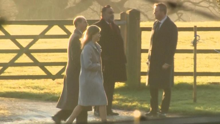Edward, Duke of Wessex and his daughter Lady Louise Windsor arrive
